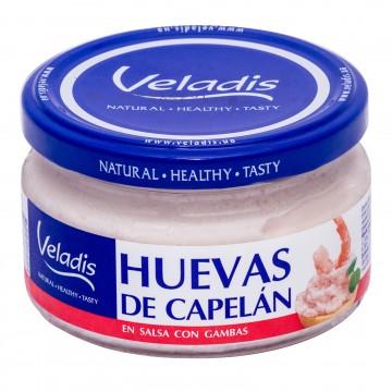 Huevas de capelán en salsa...