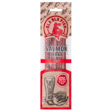Salmon Jerky Spicy, 40g